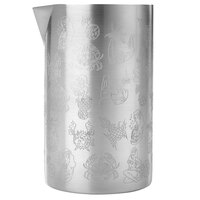 Barfly M37079 21 oz. Tiki-Themed Double Wall Stainless Steel Mixing / Stirring Tin