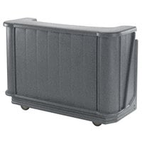 Cambro BAR650PM191 Granite Gray Cambar 67 inch Portable Bar with 7-Bottle Speed Rail and Complete Post Mix System