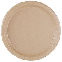 10 1/4 inch Coated Kraft Paper Plate - 400 / Case