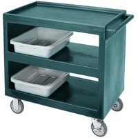 Cambro BC235192 Granite Green Three Shelf Service Cart - 37 1/4 inch x 21 1/2 inch x 34 5/4 inch