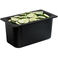 San Jamar CI7003BK Chill-It 1/3 Size Black ABS Plastic Food Pan - 6 inch Deep