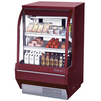 Turbo Air TCDD-36-2-H Red 36 inch Curved Glass Refrigerated Deli Case - 10.2 cu. ft.
