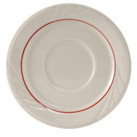 Tuxton YBE-054 Monterey 5 1/2 inch China Saucer with Berry Band - 36/Case