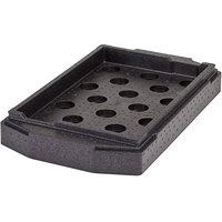Cambro EPPCTL Cam GoBox® 3 3/8 inch Black Camchiller® Insert for Large Handle Top Loader Insulated Food Pan Carriers