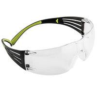 3M SF401AF SecureFit Scratch Resistant Anti-Fog Safety Glasses - Green / Black with Clear Lens