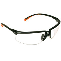 3M 12261-00000-20 Privo Scratch Resistant Anti-Fog Safety Glasses - Black / Orange with Clear Lens