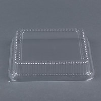 Durable Packaging P1155-500 Clear Lid for 8 inch Square Foil Cake Pan - 25/Pack