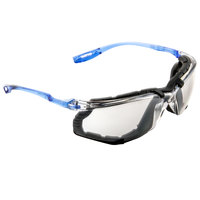 3M 11874-00000-20 Virtua CCS Scratch Resistant Anti-Fog Safety Glasses with Vented Foam Gasket - Blue with Indoor / Outdoor Mirror Lens