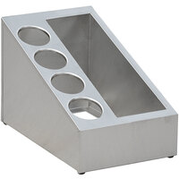 Steril-Sil VTC-3SP-4 5-Hole Narrow Combination Stainless Steel Countertop Condiment Dispenser