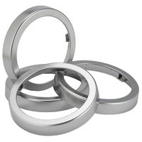 San Jamar C24XC EZ-Fit Metal Finish Rings - 2/Pack