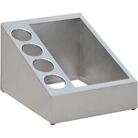 Steril-Sil VTC-1HP-4 5-Hole Wide Combination Stainless Steel Countertop Condiment Dispenser