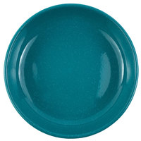 Crow Canyon Home K114TUR Stinson 10 1/2 inch Turquoise Speckle Enamelware Pasta Plate