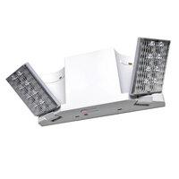 Lavex Industrial Low Profile Dual Head Black Adjustable LED Emergency Light with Battery Backup 120V