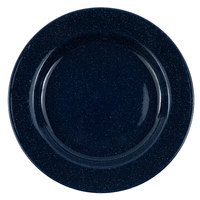 Crow Canyon Home K99NVY Stinson 8 inch Navy Speckle Wide Rim Enamelware Salad Plate