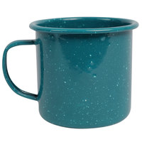 Crow Canyon Home K112TUR Stinson 16 oz. Turquoise Speckle Enamelware Mug