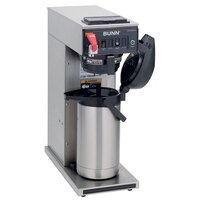 Bunn CWTF15 APS Airpot Brewer with Stainless Steel Funnel and  Hot Water Faucet 120V (Bunn 23001.0017)