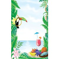 8 1/2 inch x 11 inch Menu Paper - Tropical Themed Toucan Design Cover - 100/Pack
