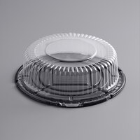Choice 10 inch Low Dome Cake Display Container with Clear Dome Lid