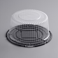 Choice 10 inch High Dome Cake Display Container with Clear Dome Lid
