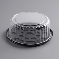 Choice 8 inch Low Dome Cake Display Container with Clear Dome Lid