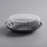 Baker's Mark 9 inch Black Pie Container with Clear High Dome Lid