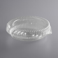 Choice 10 inch Clear Hinged Pie Container with Low Dome Lid