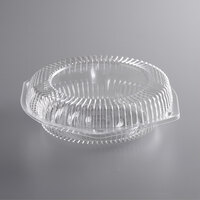 Choice 8 inch Clear Hinged Pie Container with Low Dome Lid