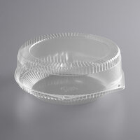 Choice 10 inch Clear Hinged Pie Container with High Dome Lid