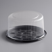 Baker's Mark 8 inch High Dome Cake Display Container with Clear Dome Lid