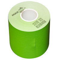 3 1/8 inch x 160' Green Side-Edge Adhesive Sticky Media Linerless Receipt Paper / Label Roll - 24/Case