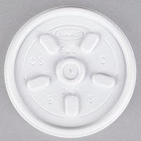 Dart 6JL White Vented Lid - 1000/Case
