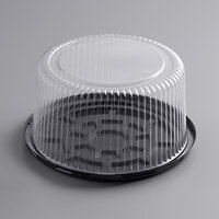 Choice 8 inch High Dome Cake Display Container with Clear Dome Lid