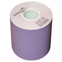 3 1/8 inch x 160' Violet Side-Edge Adhesive Sticky Media Linerless Receipt Paper / Label Roll - 24/Case