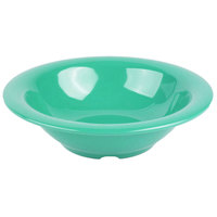 GET B-127-FG Diamond Mardi Gras 12 oz. Rainforest Green Melamine Bowl - 24/Case