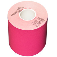 3 1/8 inch x 160' Pink Side-Edge Adhesive Sticky Media Linerless Receipt Paper / Label Roll - 24/Case