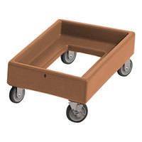 Cambro CD1420157 350 lb. Coffee Beige Camdolly Milk Crate Dolly