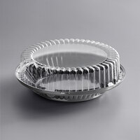 Baker's Mark 10 inch Black Pie Container with Clear High Dome Lid