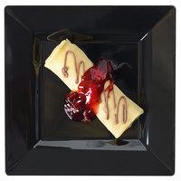 Fineline Settings 1606-BK Solid Squares 6 1/2 inch Black Square Dessert Plate - 120/Case