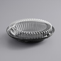 Baker's Mark 10 inch Black Pie Container with Clear Low Dome Lid