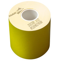 3 1/8 inch x 160' Canary Side-Edge Adhesive Sticky Media Linerless Receipt Paper / Label Roll - 24/Case