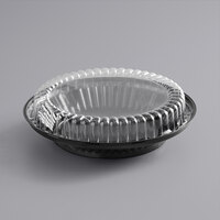Choice 9 inch Black Pie Container with Clear Low Dome Lid