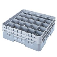 Cambro 25S418151 Camrack 4 1/2 inch High Customizable Soft Gray 25 Compartment Glass Rack