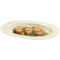 GET ML-137-IV New Yorker 17 3/4 inch x 13 inch Oval Platter - Ivory