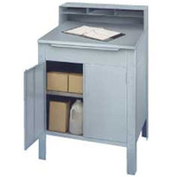 Winholt RDSWNSS-5 Stainless Steel Enclosed Stationary Receiving Desk