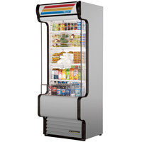 True TAC-30GS-LD 30 inch Stainless Steel Refrigerated Glass Sided Air Curtain Merchandiser - 25.5 Cu. Ft