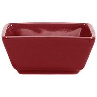 International Tableware EL-4-RH Elite Harvest 2.5 oz. Square Rhubarb Porcelain Ramekin - 36/Case