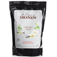 Monin 3 lb. Natural Vanilla Bean Frappe Base Mix