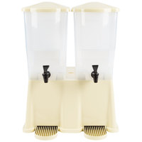 Tablecraft TW33DP 3 Gallon Double Slimline Beverage / Juice Dispenser