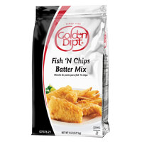 Golden Dipt 5 lb. English Style Fish 'N Chips Batter Mix - 6/Case