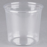 Fabri-Kal Alur RD24 24 oz. Recycled Customizable Clear PET Plastic Round Deli Container - 50/Pack